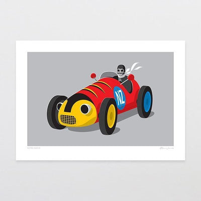Retro Racer Art Print-Glenn Jones Art