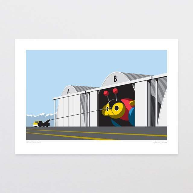 Glenn Jones Art Secret Hangar Art Print Art Print A4 Print / Unframed