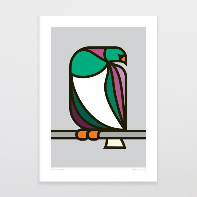 Simply Kereru Art Print-Glenn Jones Art