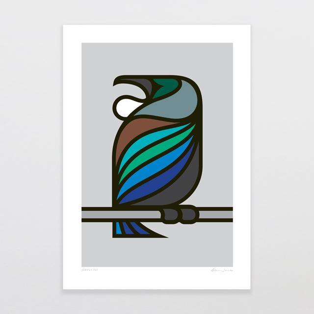 Simply Tui Art Print-Glenn Jones Art