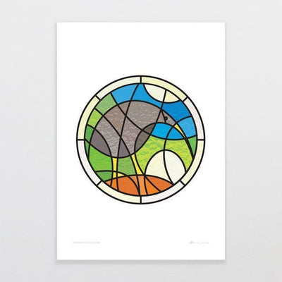 Stained Glass Kiwi Art Print-Glenn Jones Art