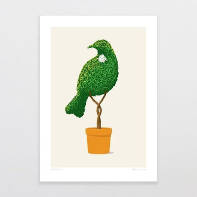 Topiary Tui Art Print-Glenn Jones Art
