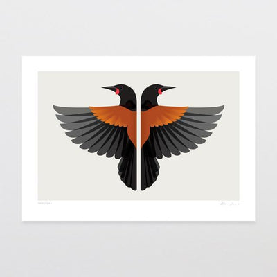 Glenn Jones Art Two Tieke Art Print Art Print A4 Print / Unframed