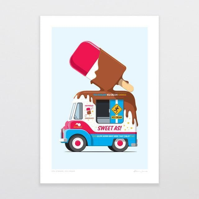 You Scream, Ice Cream Art Print-Glenn Jones Art