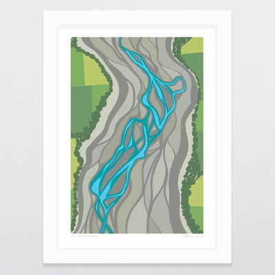 Glenn Jones Art All The Rivers Run Art Print Art Print A4 Print / White Frame