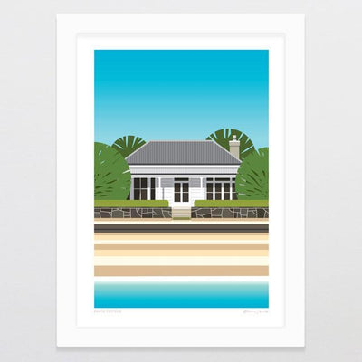 Beach Cottage Art Print-Glenn Jones Art