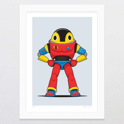 Glenn Jones Art Buzz Art Print A4 Print / White Frame