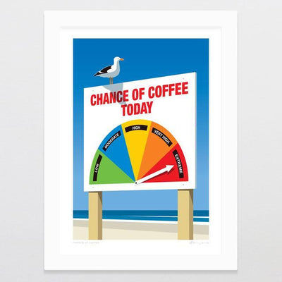 Glenn Jones Art Chance Of Coffee Art Print Art Print A4 Print / White Frame