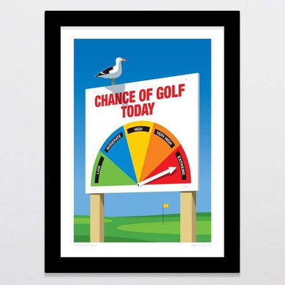 Glenn Jones Art Chance Of Golf Art Print Art Print A4 Print / White Frame