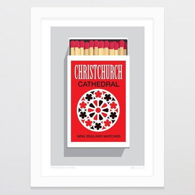 Christchurch Matchbox Art Print-Glenn Jones Art