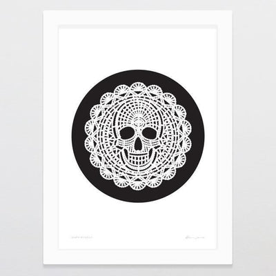 Death By Doily Art Print-Glenn Jones Art