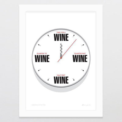 Greenwich Wine Time Art Print-Glenn Jones Art