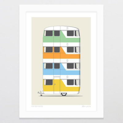 High Rise Holiday Art Print-Glenn Jones Art