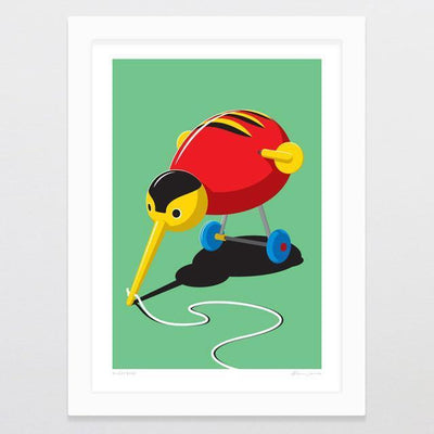 Kuzzy Kiwi Art Print-Glenn Jones Art