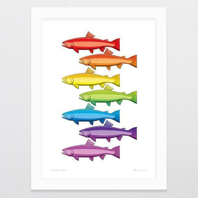 Rainbow Trout Art Print-Glenn Jones Art
