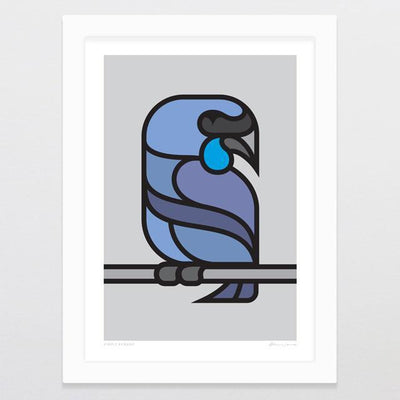 Simply Kokako Art Print-Glenn Jones Art