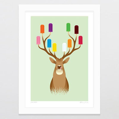 Stag Party Art Print-Glenn Jones Art
