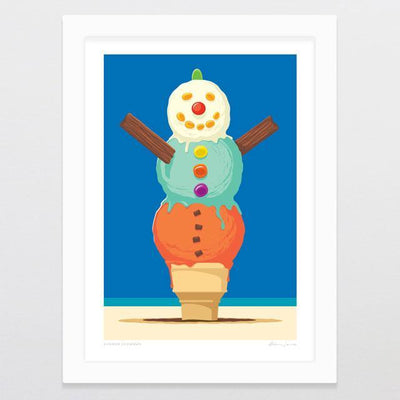 Summer Snowman Art Print-Glenn Jones Art