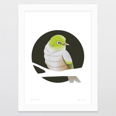 Winter Wax-Eye Art Print-Glenn Jones Art