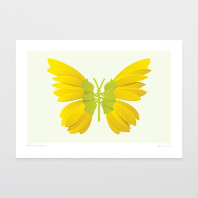 Glenn Jones Art Kowhai Butterfly Art Print Art Print