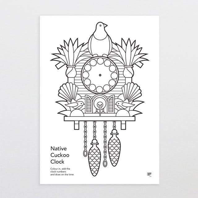 Glenn Jones Art Native Cuckoo Clock Download Art Print
