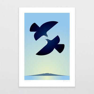 Morning Tui Art Print-Glenn Jones Art