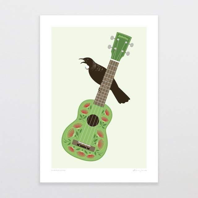 Glenn Jones Art Summer Song Art Print Art Print