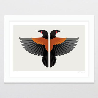 Glenn Jones Art Two Tieke Art Print Art Print
