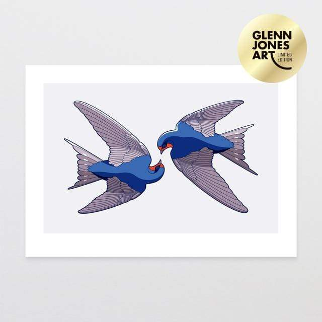 Glenn Jones Art Welcome Swallows - A2 Limited Edition Art Print