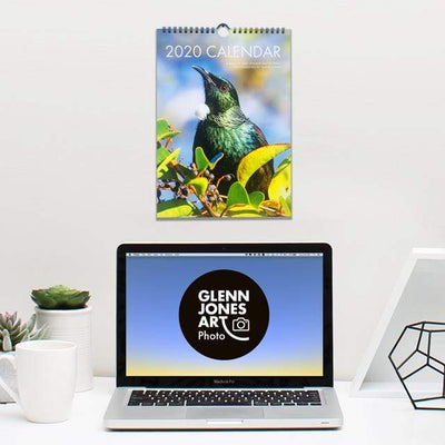 Glenn Jones Art 2020 Bird Photography Calendar Calendar A4 size 210x297mm