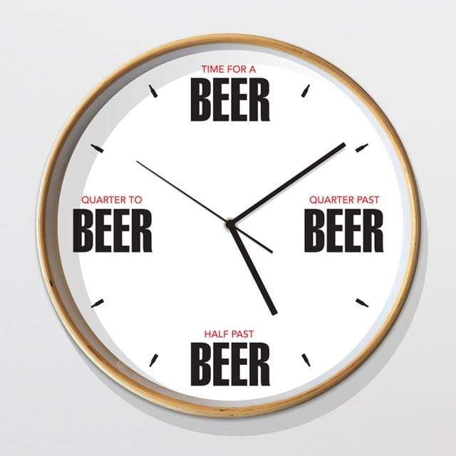 Glenn Jones Art Beer Clock Clock