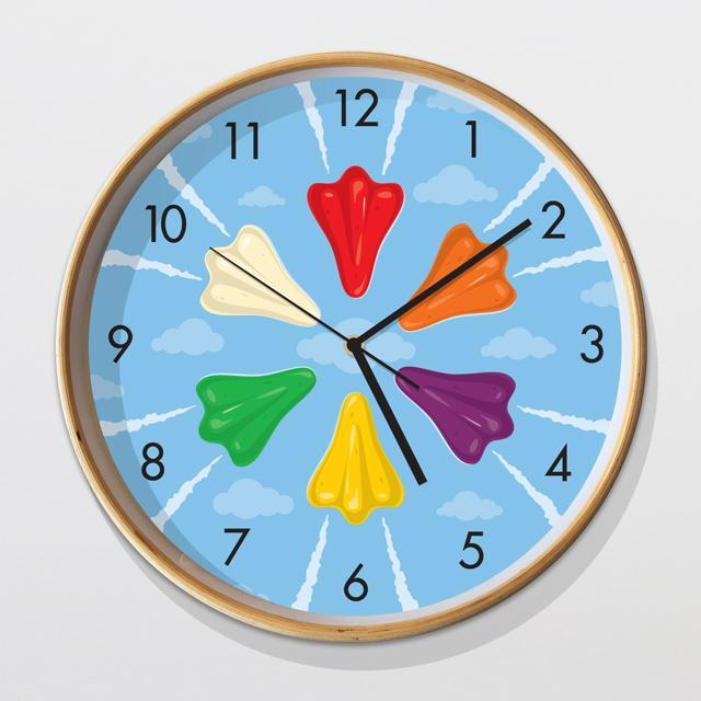 Glenn Jones Art Jet Planes Clock Clock