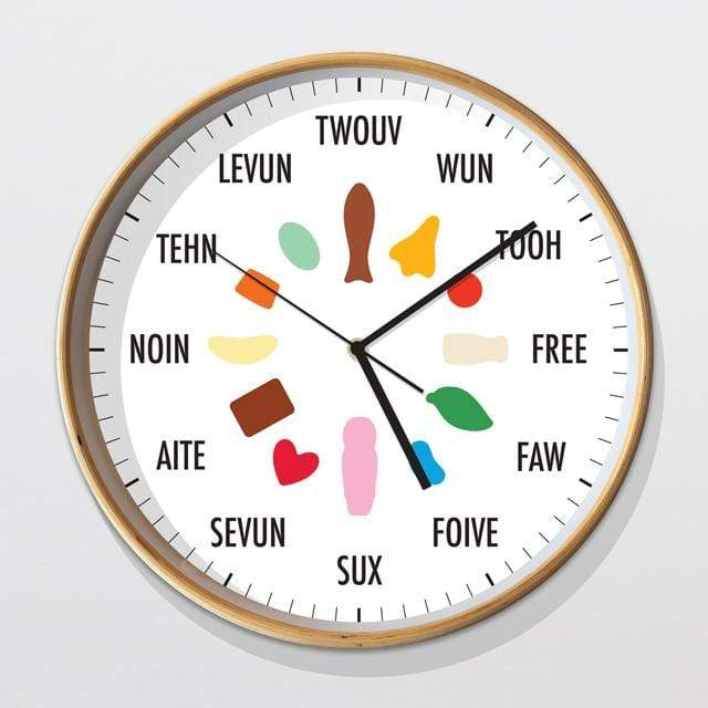 Glenn Jones Art Kiwiana Lollies Clock Clock