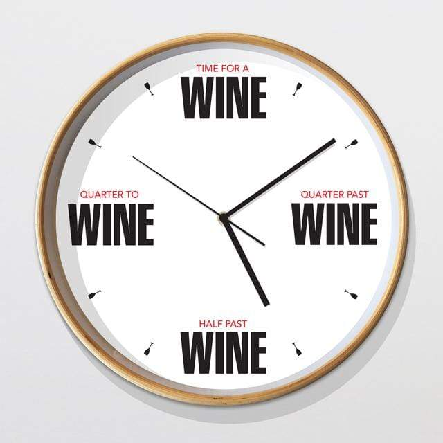 Glenn Jones Art Wine Clock Clock