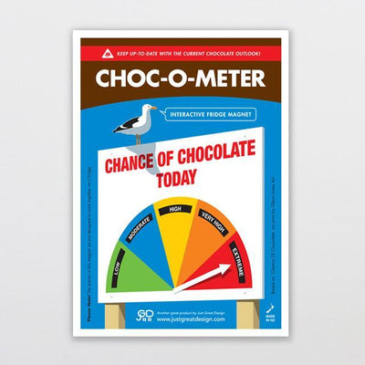 Choc-o-meter Fridge Magnet-Glenn Jones Art