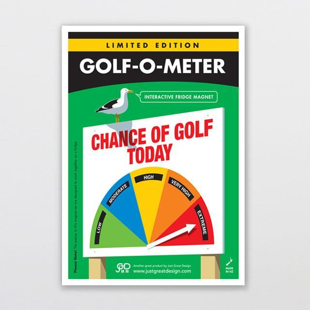 Golf-o-meter Fridge Magnet-Glenn Jones Art
