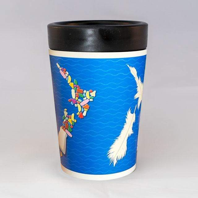 Glenn Jones Art NZ Maps Reusable Cup cup