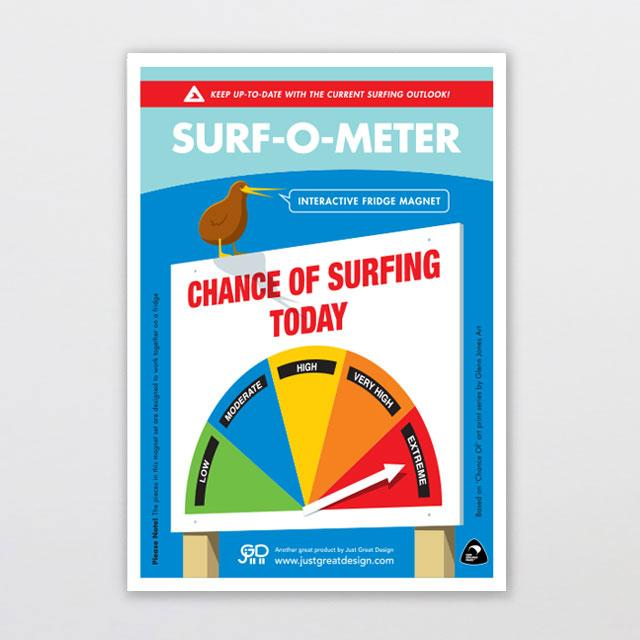 Glenn Jones Art Surf-o-meter Fridge Magnet magnet