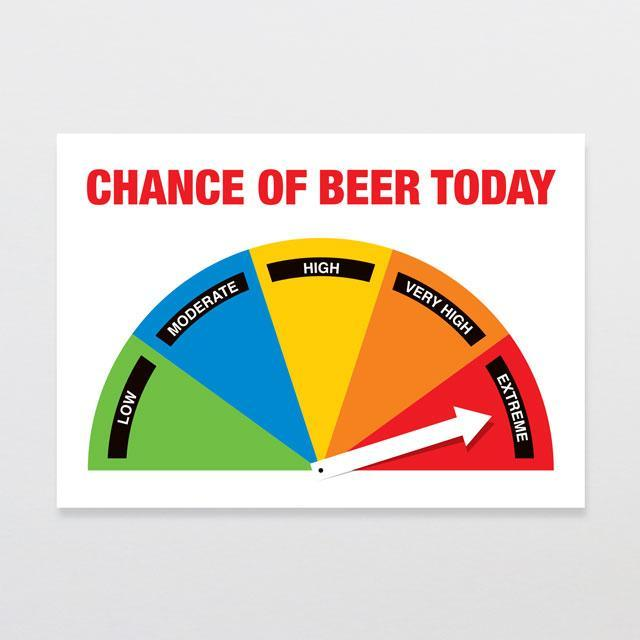 Chance Of Beer Wooden Sign-Glenn Jones Art