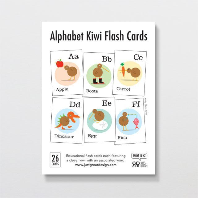Alphabet Kiwi Flash Cards-Glenn Jones Art