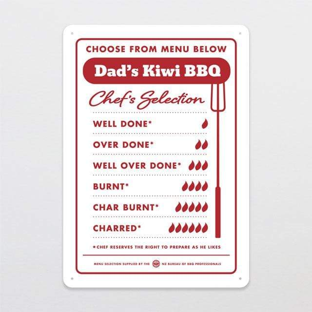 Glenn Jones Art Dad's BBQ Outdoor Sign Outdoor Sign