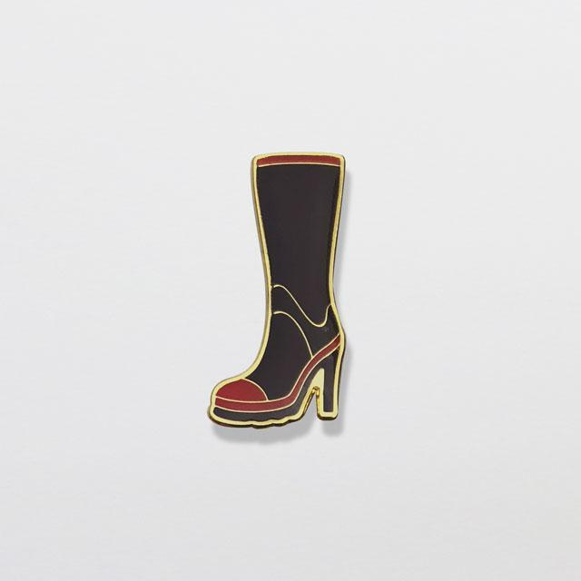 Gumboot High Heel Enamel Pin-Glenn Jones Art