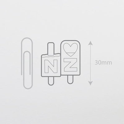 I Love NZ Enamel Pin-Glenn Jones Art