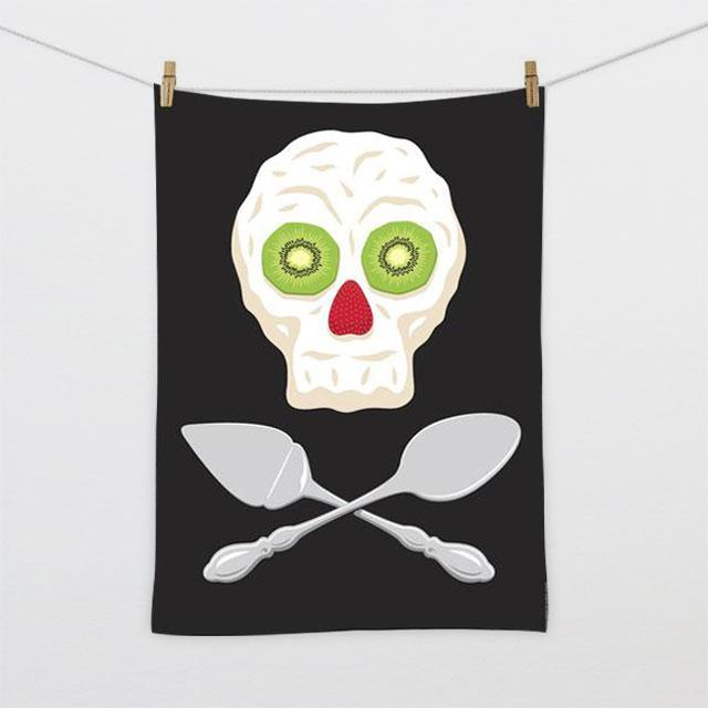 Pavlova Pirate Tea Towel-Glenn Jones Art