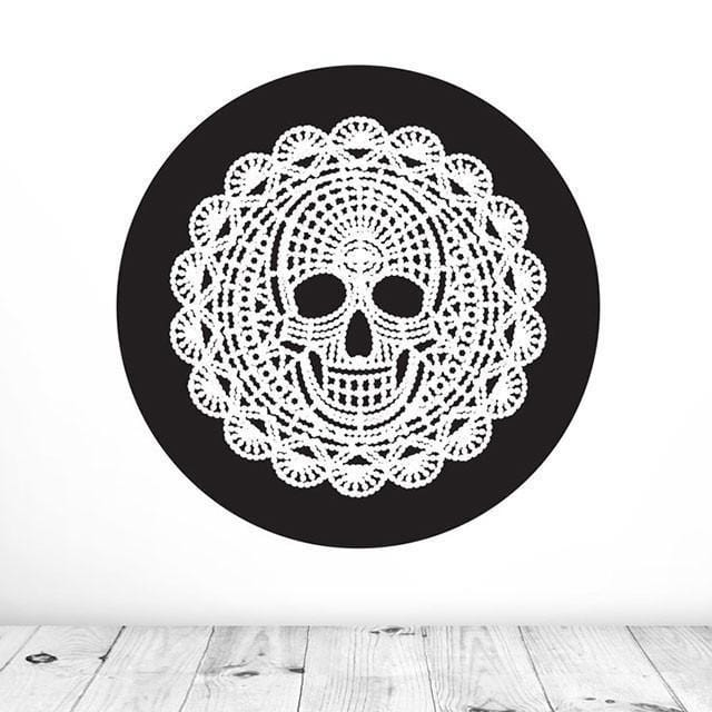 Death By Doily Mural Dot Decal-Glenn Jones Art