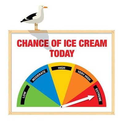 Chance Of Ice Cream Wall Decal-Glenn Jones Art