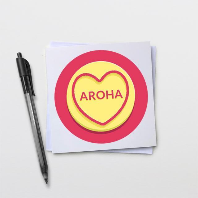Aroha Sweetheart Card-Glenn Jones Art