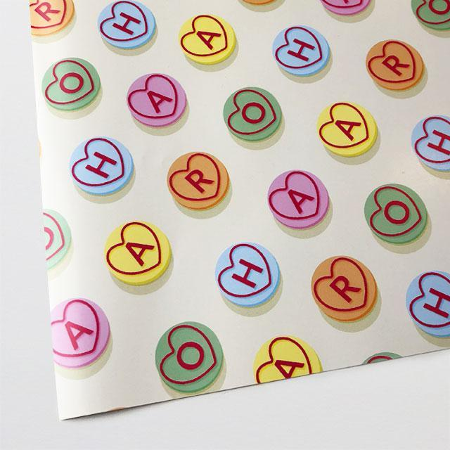 Aroha Sweetheart Wrapping Paper-Glenn Jones Art