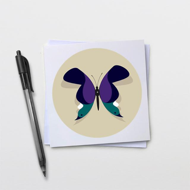 Bird Butterfly Card-Glenn Jones Art