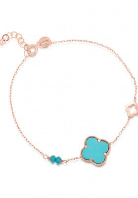 Keep Protected Turquoise Bracelet in Rose Gold